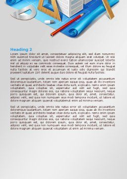 Plan Of Shopping Mall Word Template, Second Inner Page, 08017, Construction — PoweredTemplate.com