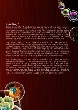 Modern Microbiology Word Template, Second Inner Page, 08019, Medical — PoweredTemplate.com
