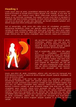 Devil Girl Word Template First Inner Page