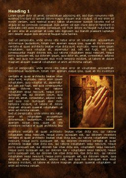 Prayer Hands Word Template, First Inner Page, 08023, Religious/Spiritual — PoweredTemplate.com