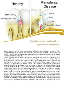 Periodontal Tooth Word Template, Cover Page, 08024, Medical — PoweredTemplate.com