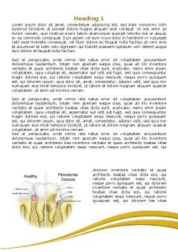 Periodontal Tooth Word Template, First Inner Page, 08024, Medical — PoweredTemplate.com