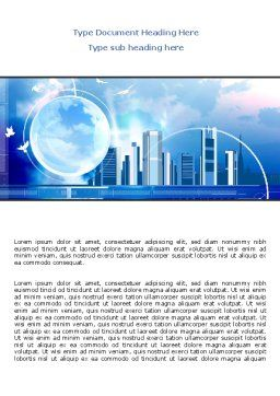 Future City Word Template, Cover Page, 08025, Construction — PoweredTemplate.com