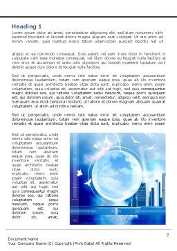 Future City Word Template, First Inner Page, 08025, Construction — PoweredTemplate.com
