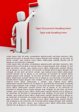 Paint It Red Word Template, Cover Page, 08026, Careers/Industry — PoweredTemplate.com