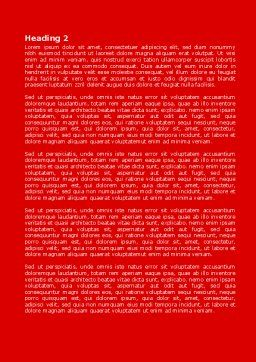 Paint It Red Word Template, Second Inner Page, 08026, Careers/Industry — PoweredTemplate.com