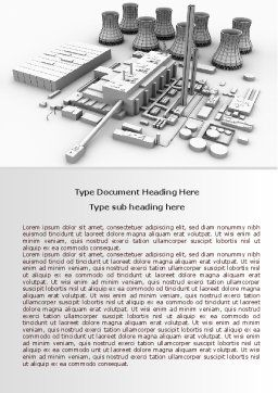 Power Station 3D Model Word Template, Cover Page, 08029, Utilities/Industrial — PoweredTemplate.com