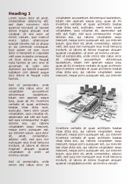 Power Station 3D Model Word Template, First Inner Page, 08029, Utilities/Industrial — PoweredTemplate.com