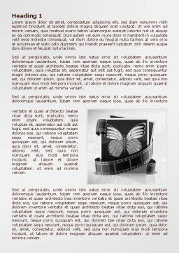 Photography Prints Word Template First Inner Page
