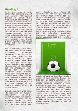 European Football Field Word Template, First Inner Page, 08032, Sports — PoweredTemplate.com