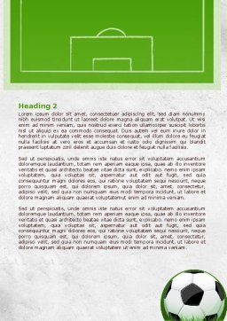 European Football Field Word Template, Second Inner Page, 08032, Sports — PoweredTemplate.com