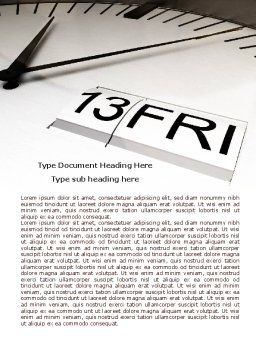 Friday 13 Word Template, Cover Page, 08037, Business — PoweredTemplate.com