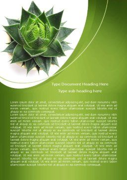 Aloe Plant Word Template, Cover Page, 08038, Agriculture and Animals — PoweredTemplate.com