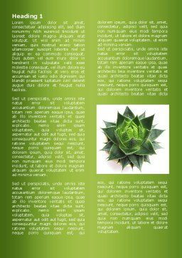 Aloe Plant Word Template, First Inner Page, 08038, Agriculture and Animals — PoweredTemplate.com