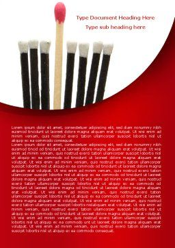 Safety Match Word Template, Cover Page, 08039, Business Concepts — PoweredTemplate.com