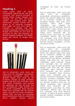 Safety Match Word Template, First Inner Page, 08039, Business Concepts — PoweredTemplate.com