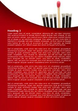 Safety Match Word Template, Second Inner Page, 08039, Business Concepts — PoweredTemplate.com