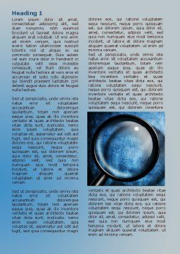Magnifier On A Blue Parchment Word Template, First Inner Page, 08041, Consulting — PoweredTemplate.com