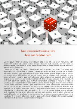 Dice Combination Word Template, Cover Page, 08045, Consulting — PoweredTemplate.com
