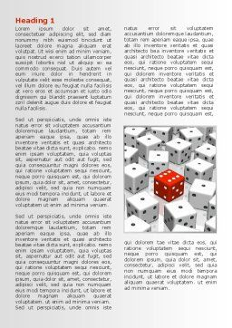 Dice Combination Word Template, First Inner Page, 08045, Consulting — PoweredTemplate.com