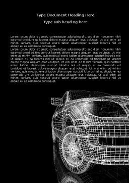 Car Modeling Word Template Cover Page