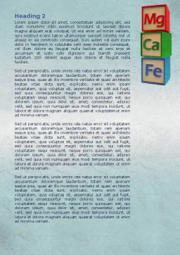 Simple Chemistry Word Template, Second Inner Page, 08055, Medical — PoweredTemplate.com