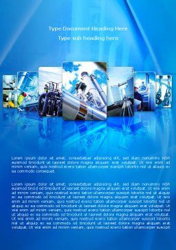 Pipe Welding Word Template, Cover Page, 08060, Utilities/Industrial — PoweredTemplate.com