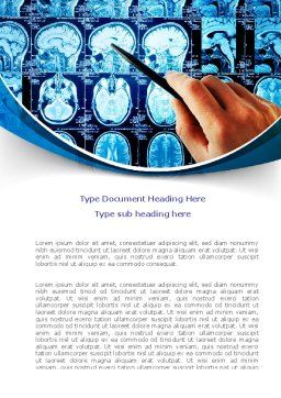 Brain MRI Scan Word Template, Cover Page, 08061, Medical — PoweredTemplate.com