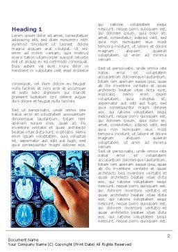 Brain MRI Scan Word Template, First Inner Page, 08061, Medical — PoweredTemplate.com