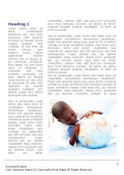 School Study In Africa Word Template First Inner Page