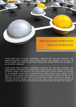 Network Elements Word Template, Cover Page, 08066, 3D — PoweredTemplate.com