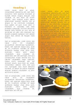 Network Elements Word Template, First Inner Page, 08066, 3D — PoweredTemplate.com