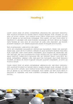 Network Elements Word Template, Second Inner Page, 08066, 3D — PoweredTemplate.com