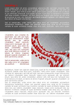 Red Dotted Wave Word Template, First Inner Page, 08067, Business — PoweredTemplate.com