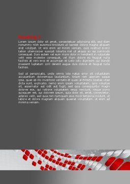 Red Dotted Wave Word Template, Second Inner Page, 08067, Business — PoweredTemplate.com