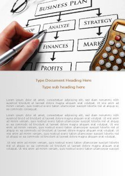 Business Plan Analysis Word Template, Cover Page, 08068, Consulting — PoweredTemplate.com