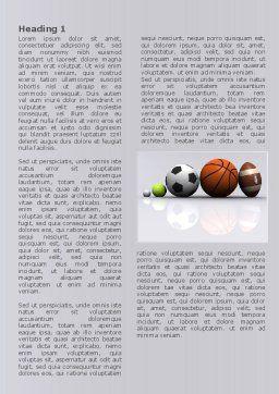 Sport Balls Word Template, First Inner Page, 08071, Sports — PoweredTemplate.com