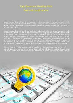 Keyboard Key Word Template, Cover Page, 08072, Technology, Science & Computers — PoweredTemplate.com