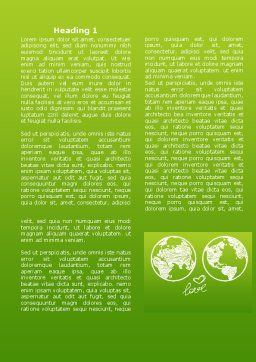 Peace Love Word Template First Inner Page