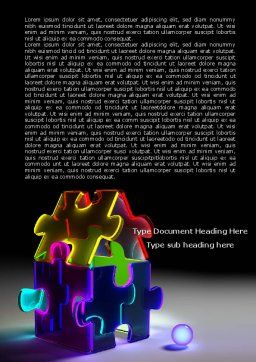 Jigsaw House Word Template, Cover Page, 08075, Consulting — PoweredTemplate.com