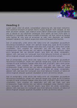 Jigsaw House Word Template, Second Inner Page, 08075, Consulting — PoweredTemplate.com