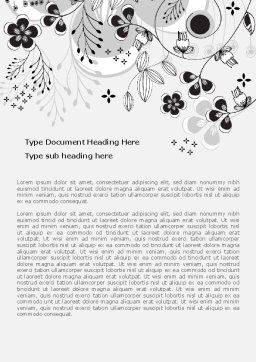 Floral Decor Word Template Cover Page