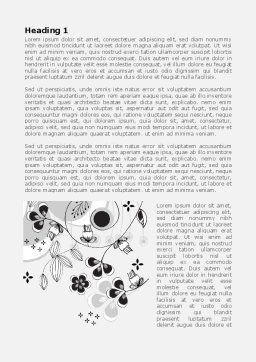 Floral Decor Word Template First Inner Page