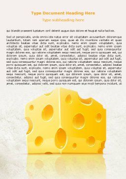Piece of Cheese Word Template, Cover Page, 08077, Food & Beverage — PoweredTemplate.com