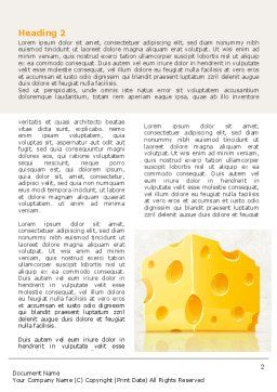 Piece of Cheese Word Template, First Inner Page, 08077, Food & Beverage — PoweredTemplate.com