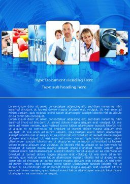 Medical Service Word Template, Cover Page, 08079, Medical — PoweredTemplate.com