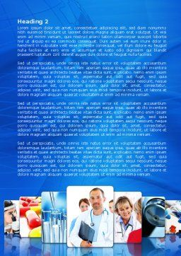 Medical Service Word Template, Second Inner Page, 08079, Medical — PoweredTemplate.com