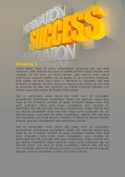 Success Motivation Word Template, Second Inner Page, 08080, Consulting — PoweredTemplate.com