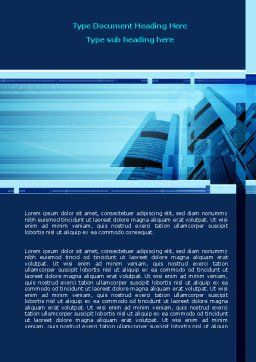 Business Building Theme Word Template, Cover Page, 08081, Business — PoweredTemplate.com