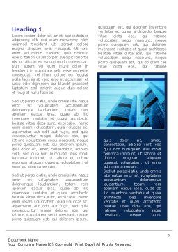 Business Building Theme Word Template, First Inner Page, 08081, Business — PoweredTemplate.com